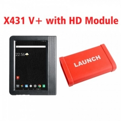 X431 PRO3 Launch X431 V+ 10.1inch Tablet Global Version with X431 Heavy Duty Module Work on both 12V & 24V Cars and Trucks