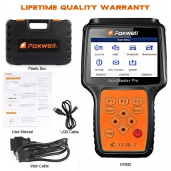 Foxwell NT680 All Systems Diagnostic Scanner with Oil Light/Service Reset+EPB Functions Updated Version of NT624