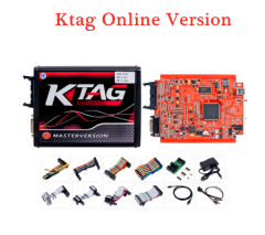 V2.25 KTAG EU Online Version Firmware V7.020 K-TAG Master with Red PCB No Tokens Limitation