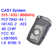 4 buttons Smart Remote key 315LP MHZ 315mhz 433mhz 868mhz for BMW 7 SERIES E65 E66 2002-2008 with ID7942 7944 CHIP CAS1 System