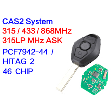 3 buttons Remote Key for BMW 3 5 7 series X3 with PCF7942-44 Chip CAS2 315LP MHZ 315MHz 433MHZ 868MHZ