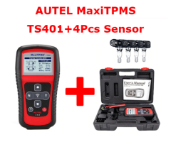 Autel MaxiTPMS® TS401 TPMS Diagnostic and Service Tool V5.22 Update Online + 4pcs Autel MX-Sensors 433 MHz 315 MHz 2 In 1